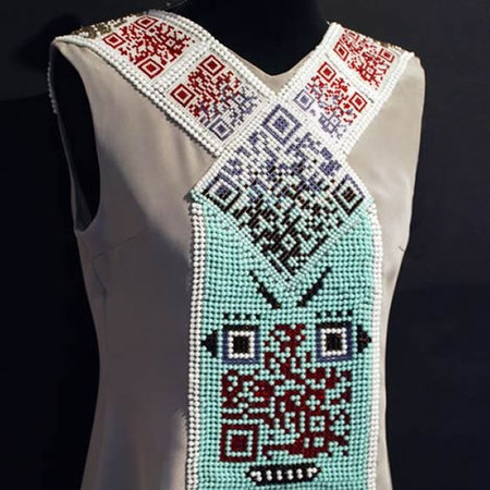 popstars QR U codes Swarovski dress by Thorunn Arnadottir thumb 450x450